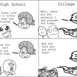 Similarities Between High school and College